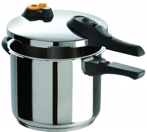 T-fal P25107 Stainless Steel Dishwasher Safe PFOA Free Pressure Cooker Cookware