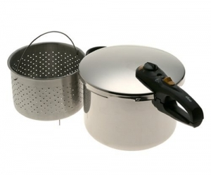 The Presto 8-Quart Stainless Steel Pressure Cooker