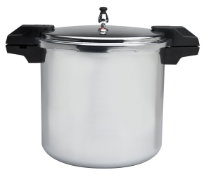 Mirro 92122A Polished Aluminum Pressure Cooker Cookware, 22-Quart, Silver
