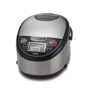 Tiger JAX-T10U-K 5.5-Cup Micom Rice Cooker with Steamer & Slow Cooker
